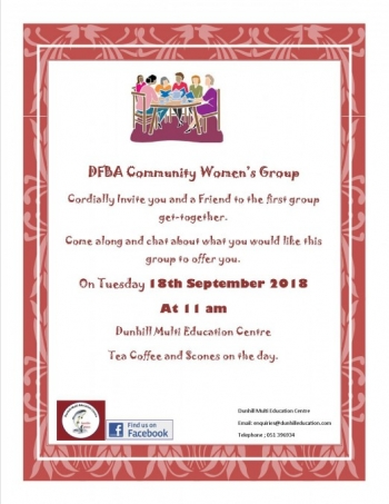 DFBA Community Women's Group Invite
